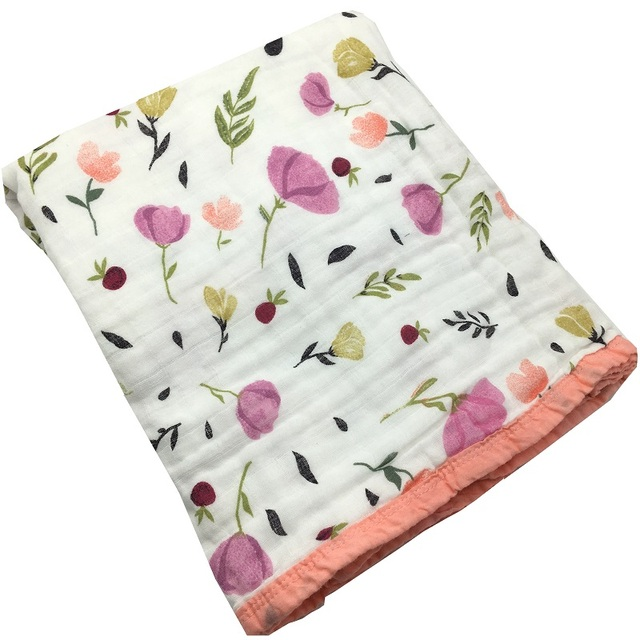 Four/Six Layer 100% Muslin Cotton Blanket Swaddle