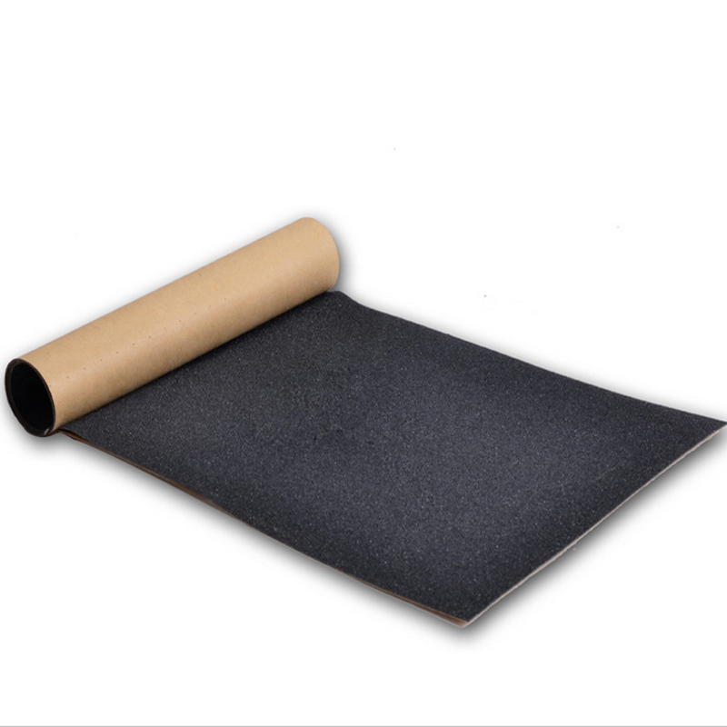 84*23cm Skateboard Sandpaper Skate Grip Tape Longboard Sandpaper Non-slip Waterproof Hard-Wearing Black Scooter Deck Paster