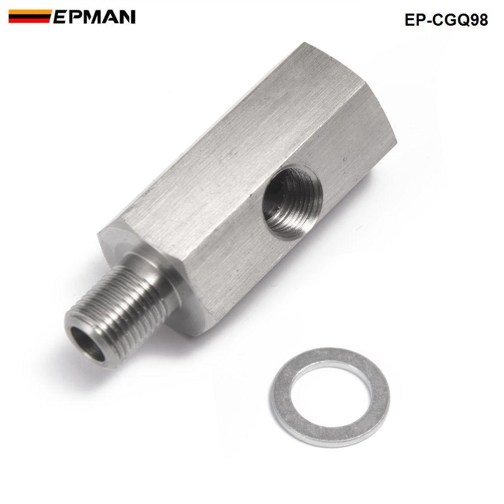 1/8'' NPT Oil Pressure Sensor Tee to NPT Adapter Turbo Supply Feed Line Gauge EP-CGQ98