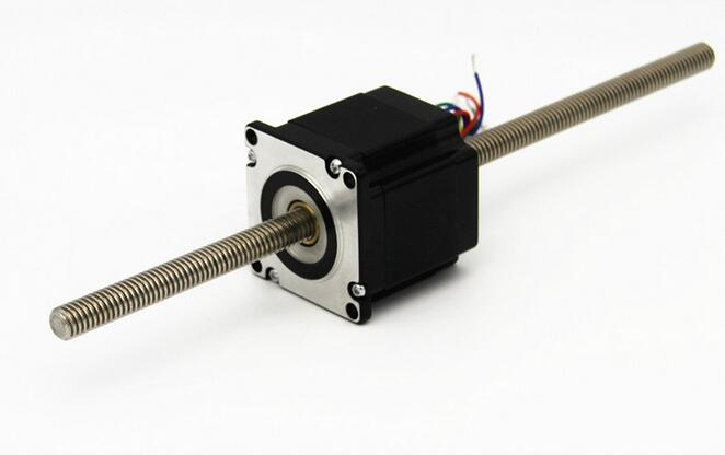 57mm Dual Shaft CNC The Linear Stepper Motors through type stepper motor T11 screw rod Two phase four wire body length 56MM aiyima 1pcs stepper motors 1a5 1v39 2 phase 4 wire 1 8 degree two phase four wire micro step motor second hand moteur