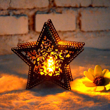 Hot Pentagram simplicity wedding Candle Holder Candlestick Lantern Bridal Decor Vintage Candlesticks Home Decor