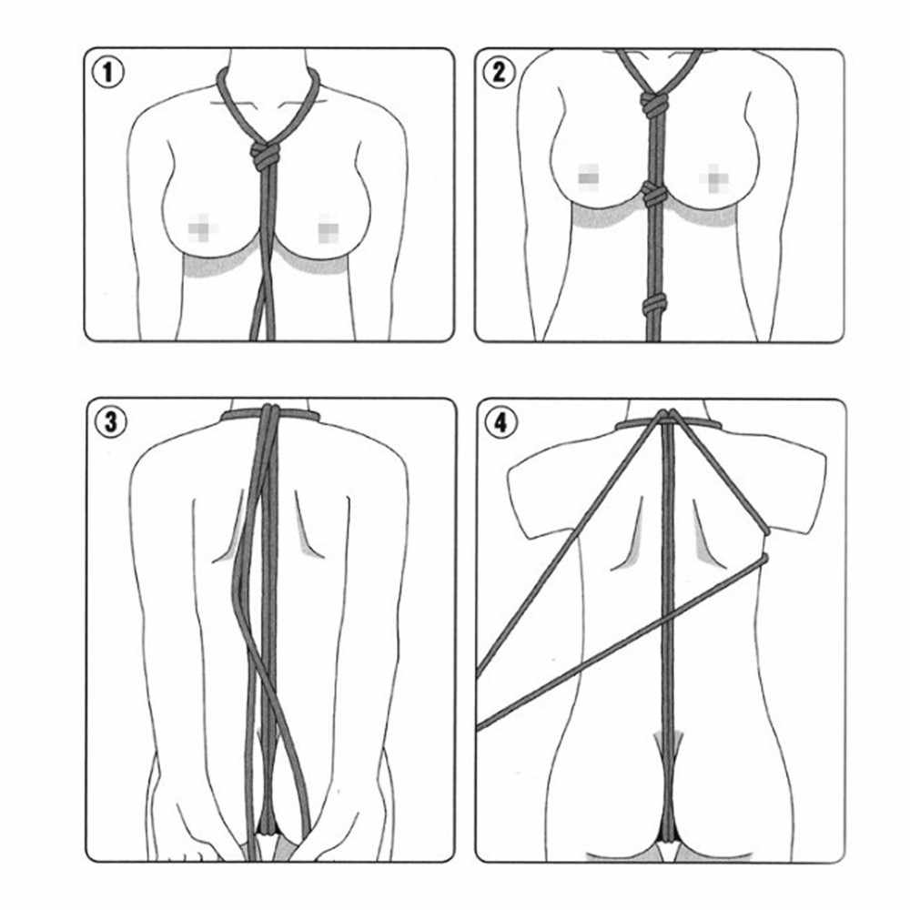 מין שעבוד חבל מחייב 16 רגל/5 m ארוך רך כותנה חבל למבוגרים צעצועים מיני BDSM עבדים מין אזיקים צעצועים ארוטיים עבור זוגות