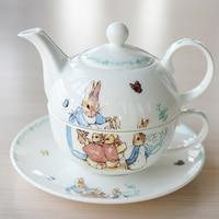Afternoon Tea Set Teapot Cup dish British Bone porcelain Tea Set Single Cup Pot Ceramic Cartoon Cute Peter Rabbit