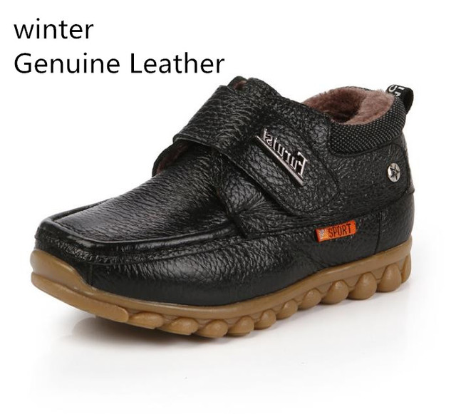 Super quality 1pair  Genuine Leather shoes winter Sneakers Children's Shoes,Hot sale boy shoes