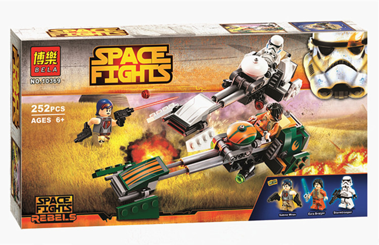 2017 new STAR WARS bela 10369 252pcs ezra speed Locomotive building blocks bricks toys children gift Compatible With Lego 2016 499pcs bela 10376 new star wars at dp building blocks toys gift rebels animated tv series compatible