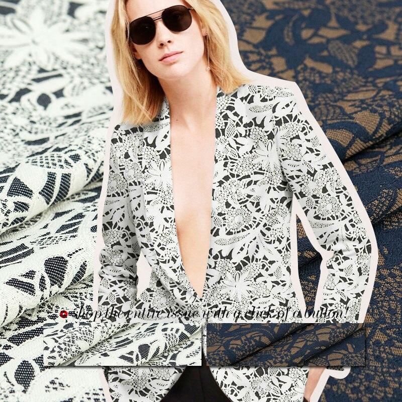 ⊹Mezcla de algodón jacquard tela, patrón floral, patrón de la flor ...