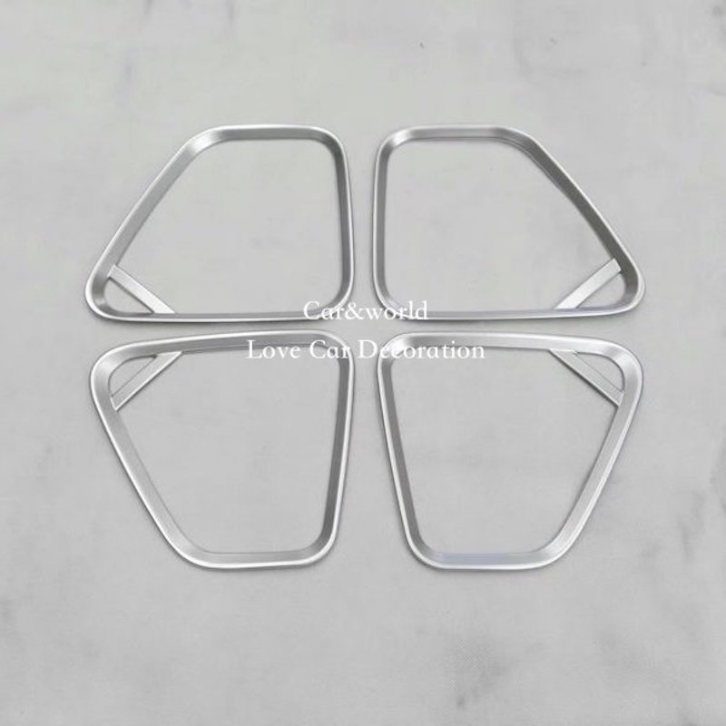 For Mitsubishi Outlander Door Speaker Ring Cover Trim Interior Decoration 2016 2017 ABS Chrome Stickers Car styling Accessories|chrome accessories|trim cover|abs chrome - title=