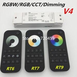 Image 1 - RGBW/RGB/CCT/עמעום + 2.4 GHz אלחוטי RF מרחוק בקר 4 ערוץ LED RF Controller עבור RGB/RGBW LED רצועת אור RGB + CCT V5