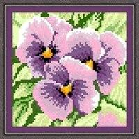 17*17 cm Full Bead thêu cross Purple Butterfly Orchid may vá trang trí nhà trang trí thủ công mỹ nghệ DIY crochet cảm thấy Costura may
