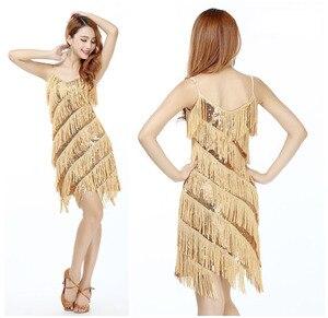 Image 1 - 高品質のセクシーなラテンダンスドレスフリンジラテンダンスの衣装に販売
