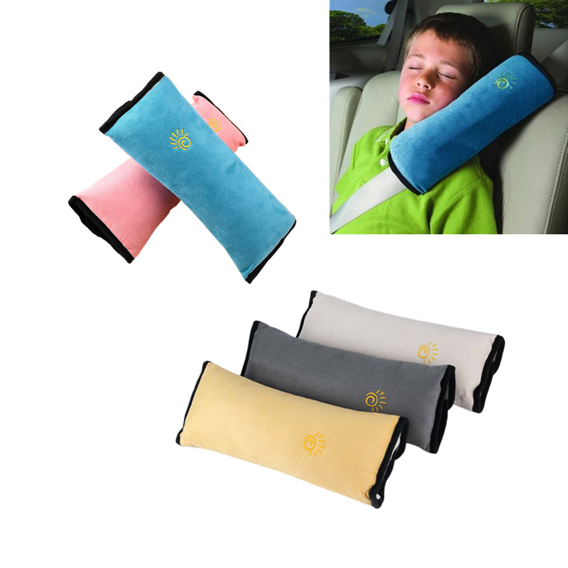Hot! Baby Pillow Kid Car Pillows Auto Safety Seat Belt Harness Protection Support Pillow Shoulder Cushion Pad For Kids Toddler