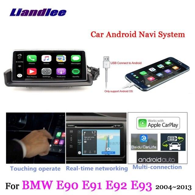 US $643 5 22% OFF|Liandlee For BMW 3 Series E90 E91 E92 E93 Left Hand Drive  Android Original System Idrive Carplay GPS Navi Navigation Multimedia-in