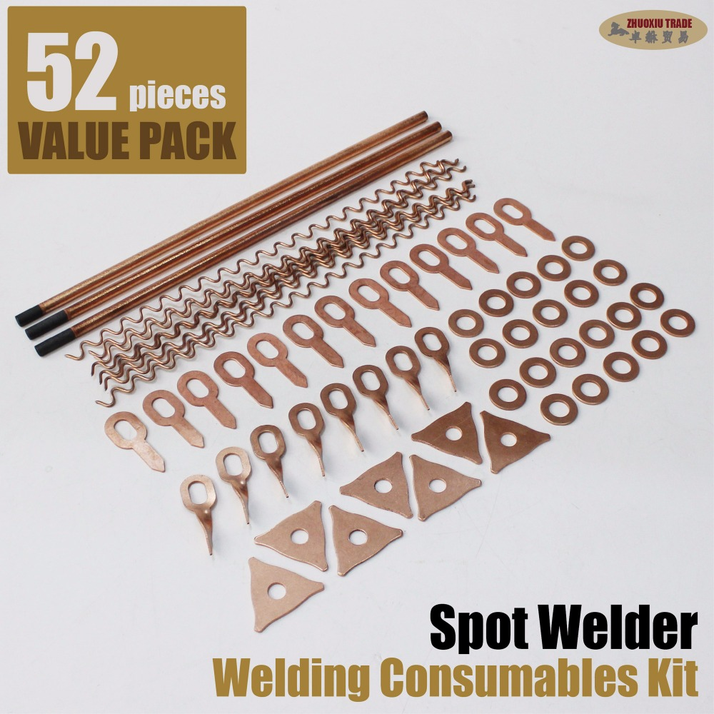 car dent spot weld kit welding pulling stud welder bodywork repair removal washers bit electrodes sheet metal workshop equipment 500pcs stud welder draw pin set for removing dents car body sheet metal 2 0mm