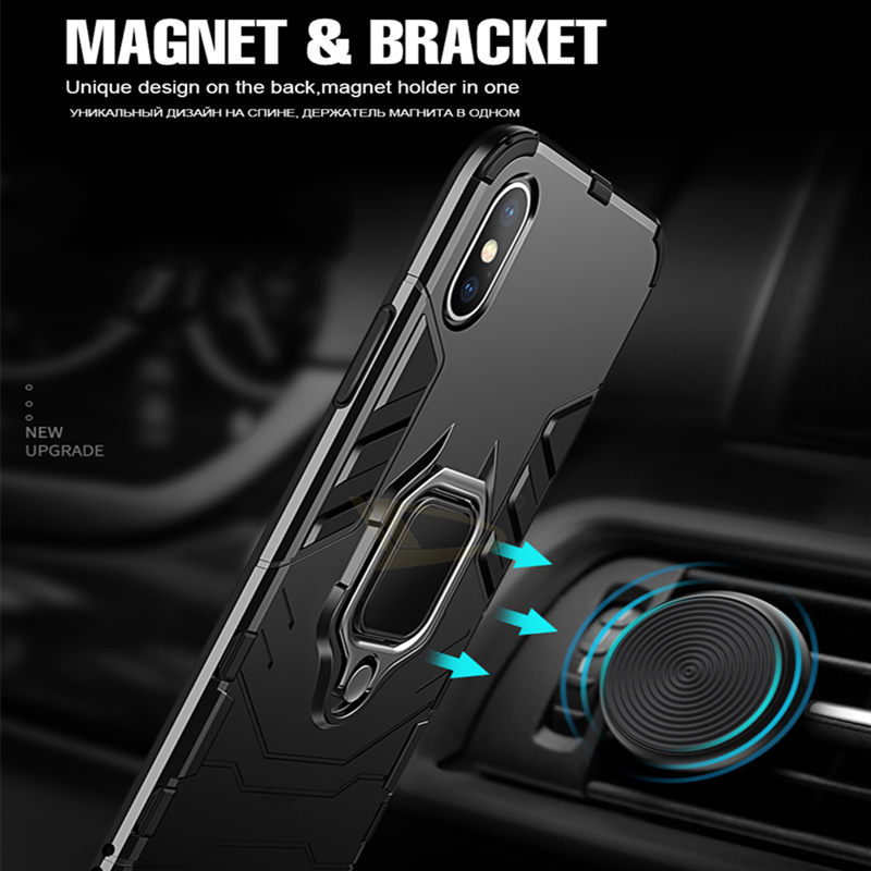 Luxury-Armor-Shockproof-Holder-Case-For-iphone-X-XR-XS-Max-Hard-PC-Soft-TPU-Full