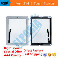 For IPad 4 Digitizer Touch Screen Display Glass Assembly Includes Home Button Flex Camera Holder Frame