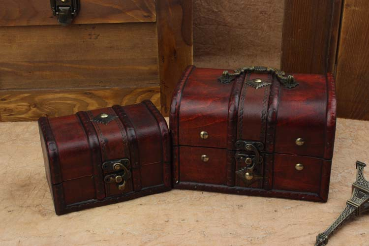 Hot Sale Wooden Storage Boxes European Princess Jewelry Case Antique Wooden  Gift Boxes 2 Pcs/set In Storage Boxes U0026 Bins From Home U0026 Garden On ...