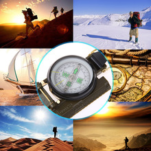 Portable Army Green Folding Lens Compass American Military Multifunction Compass Boat Compass Dashboard Dash Mount Outdoor tools