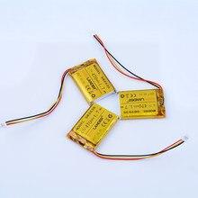 3 sztuk/partia 3.7V 470mAh akumulator litowo-polimerowy do Transcend DrivePro 100 mp3 DVR GPS headephone 582535 602535 caram m1