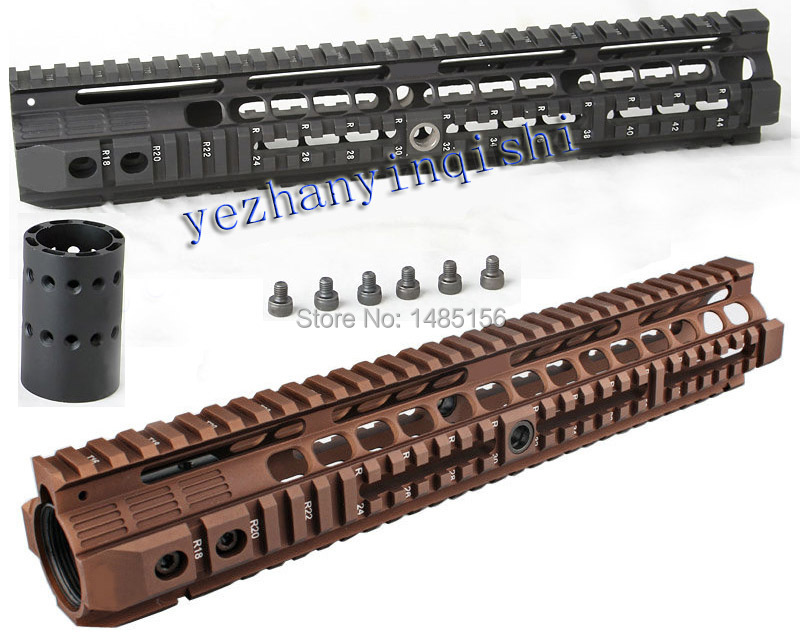 New high quality 12.6 inch for AEG M4 / M16 Tactical Handguard Rail System BK/CB - Free shipping hunting picatinny rail 4 25 inch handguard rail cqb tactical rail systems for aeg m4 m16