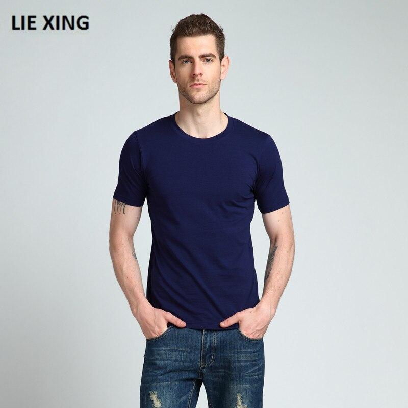 2018 Nouvelle Marque Vêtements 5 Couleurs Élastique O-cou Hommes T Shirt des Hommes De Mode T-shirt Remise En Forme Mâle Occasionnel T-shirt XXL Livraison gratuite