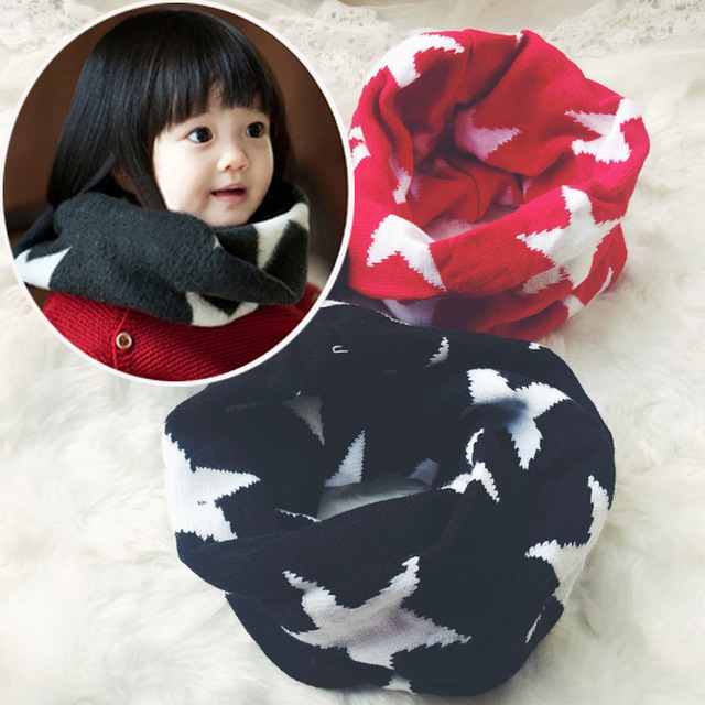 f74516ce5fda0 South Korean children s five - star round neck - winter baby s warm and  thick double big