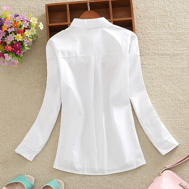 New Fashion flowers embroidered women's clothing women tops blusas  4