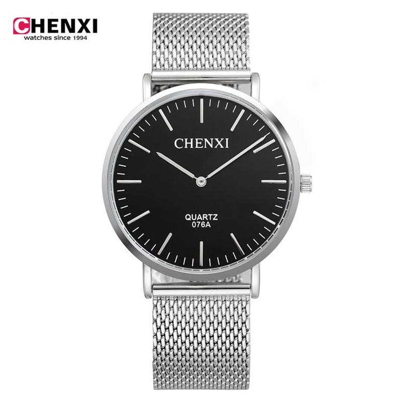 New Fashion top luxury brand CHENXI watches men quartz watch stainless steel mesh strap ultra thin