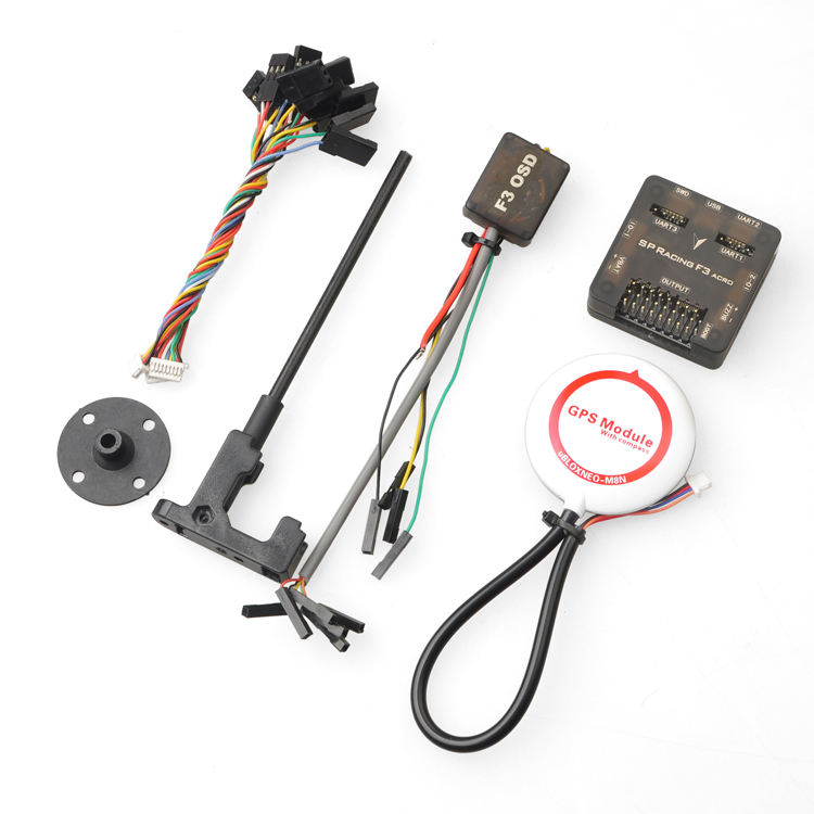 Pro SP Racing F3 Flight Control Acro 6DOF with M8N-GPS M8N GPS OSD Combo for DIY Mini 250 280 210 RC Quadcopter FPV Drone F16822 micro minimosd minim osd mini osd w kv team mod for racing f3 naze32 flight controller