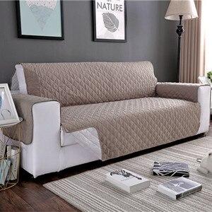 Image 4 - Wodoodporna narzuta na sofę wymienny Pet Dog Kid Mat fotel pokrowiec na meble zmywalny podłokietnik poszewki na kanapę pokrowce 1/2/3 Seat