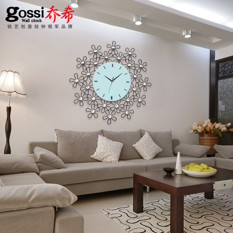 Ultra Quiet European Style Garden Wrought Iron Wall Clock Modern Minimalist Living Room Bedroom Creative Quartz Watches In Clocks From Home On