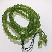 6mm Green GEM MOLDAVITE Meteorite Impact Glass 108 Beads Bracelet