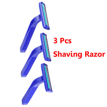 3 Pcs/Set Disposable Shaving Razor Blades Holder Men Women Travel Shaver Razor Blades Face Care Underarm Body Hair Removal(China)