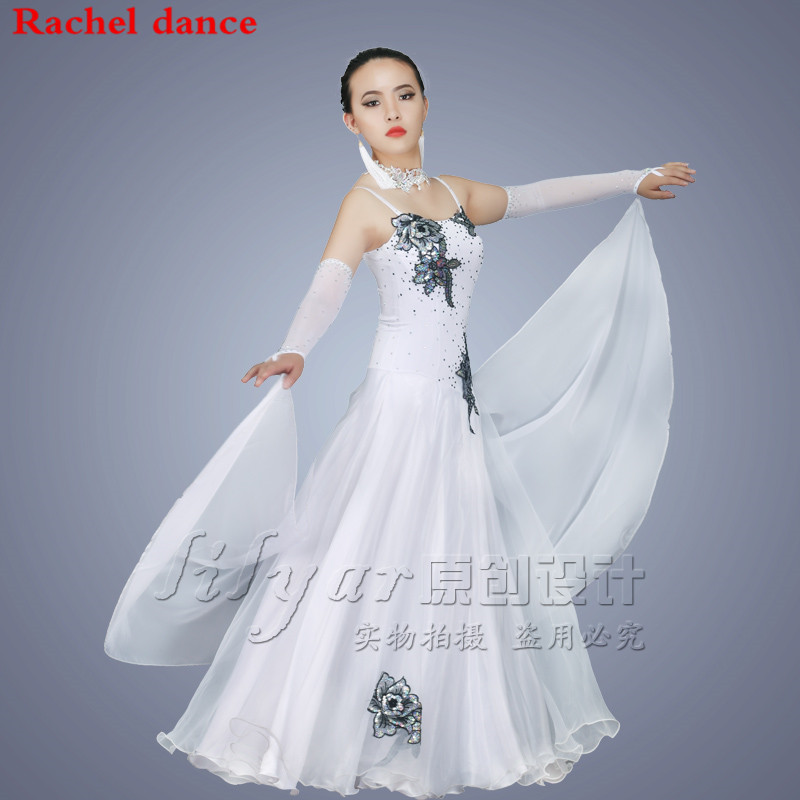 Ballroom Dance Competition Dresses Customized For Girl Ballroom Standard Dance Dress Juvenile Dance COSTUME Stage Ballroom