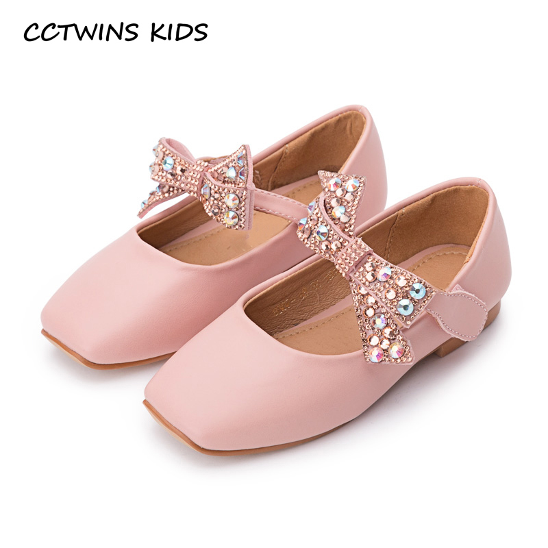 CCTWINS KIDS 2018 Autumn Children Butterlfy Mary Jane Baby Girl Pu Leather Flat Toddler Rhinestone Party Shoe Black GM2095 wendywu 2017 spring toddler fashion pu leather mary jane baby girl rhinestone princess ballet children heeled shoe black