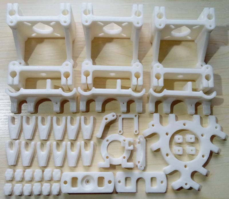 D IYDelta Rostock Mini 3d printer PLA plastic Parts Printed Full Kit