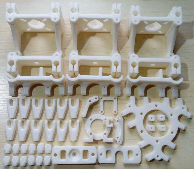 D IYDelta Rostock Mini imprimante 3d PLA pièces en plastique imprimé Kit complet