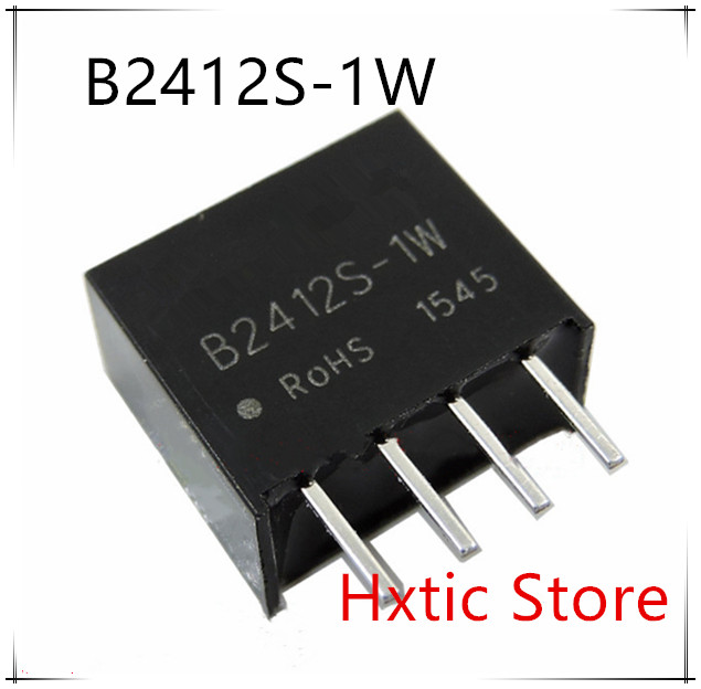 10PCS/LOT B2412S-1W B2412S 1W DC-DC Module 24V 12V Digital Instrument Step-down Isolation