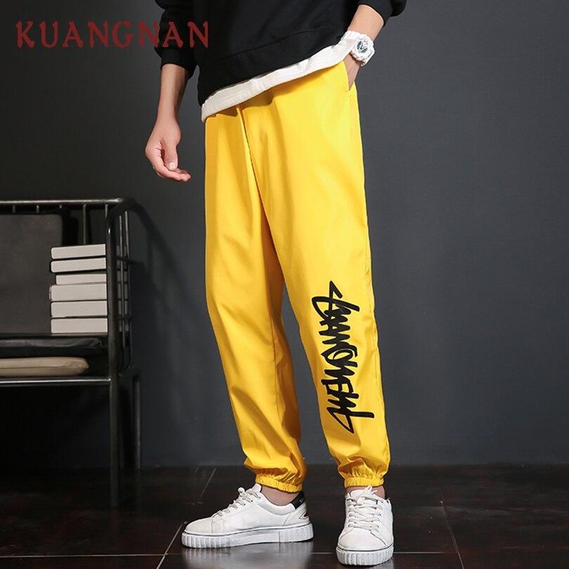 KUANGNAN Men Trousers Pants Japanese Streetwear 5XL Heavyweight Loose Casual
