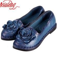 2016 Retro Schuh Für Frauen Handgefertigte Schuhe Aus Echtem Leder Weiche sicher Wohnungen Herbst Fahren Schuhe Spitzschuh Frauen Wohnungen 5 farbe
