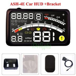 Image 5 - ActiSafety ASH 4E 5.5 インチ車 OBD2 II EUOBD 車 Hud ヘッドアップディスプレイブラケット車の速度超過警告システム 4E HUD 車