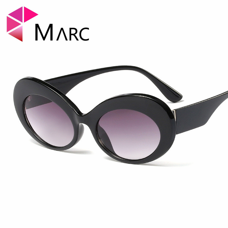 MARC 2019 New Sunglasses Women Glasses Style Sun Glasses Color Brand Designer Resin eyewear Oval Trend Flower Red Gradient in Women 39 s Sunglasses from Apparel Accessories