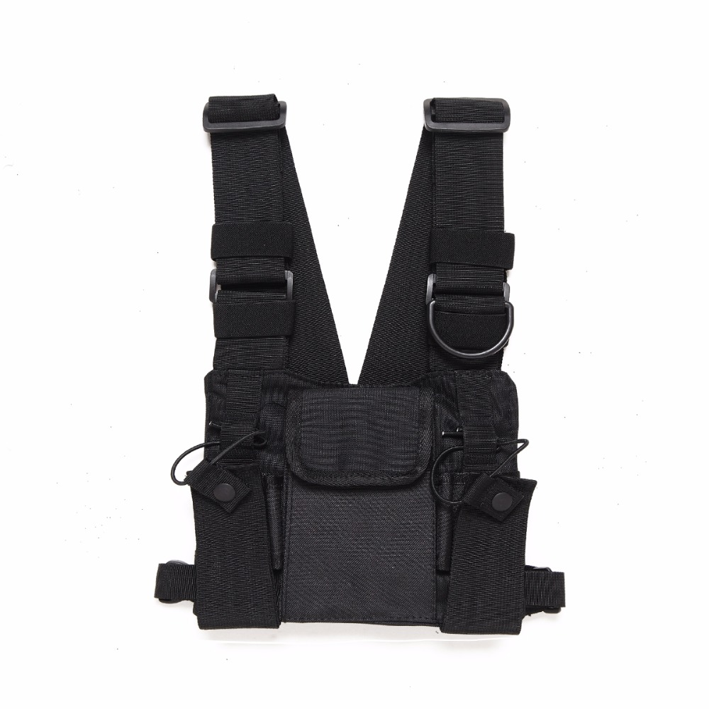 Abbree Brust Harness Brust Vorne Packung Beutel Holster Weste Rig Carry für Two Way Radio Baofeng TYT Wouxun Motorola Walkie talkie