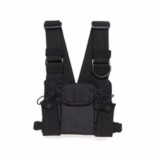 Abbree Chest Harness rig bag Front Pack Pouch Holster Vest Rig Carry for Two Way Radio Baofeng TYT Wouxun Motorola Walkie Talkie