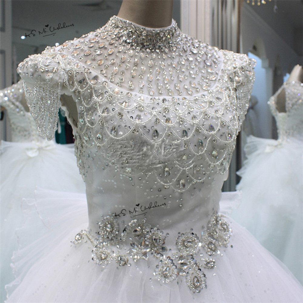 Vestido de Noiva 2018 Luxury Princess Wedding Dress Rhinestones Sequin Wedding Gowns Ball Gown Bridal Dresses