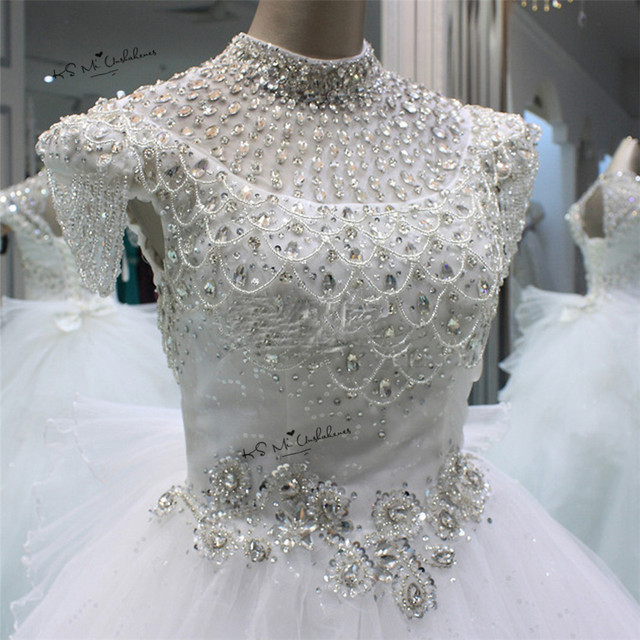 Vestido de Noiva 2018 Luxury Princess Wedding Dress Rhinestones ...