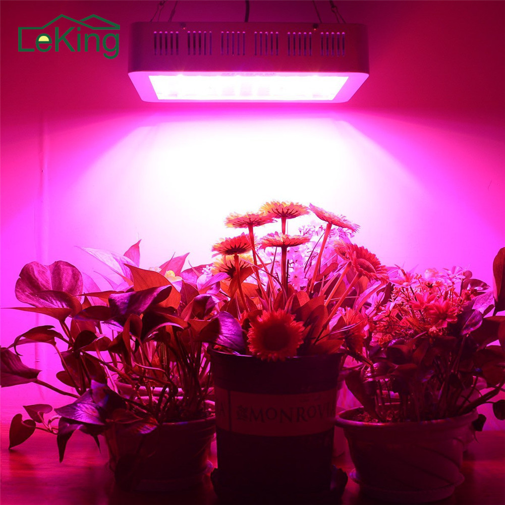 LED Dual-core 1000W Lamp for Plants Growth Full Spectrum For All Indoor Plants US UK EU AU Plug
