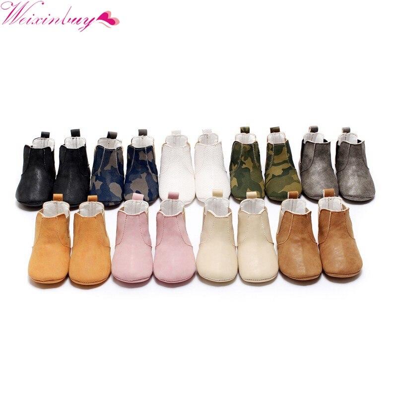 92d42682c2214 Bébé garçon fille chaussures infantile étape chaussures bottes bébé  chaussures burst élastique PU en cuir à semelle souple chaussures bottes  dans Bottes de ...