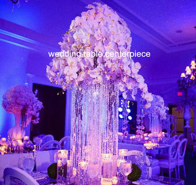 Design Metal Wedding Centerpiece Stand With Crystal Beadcrystal