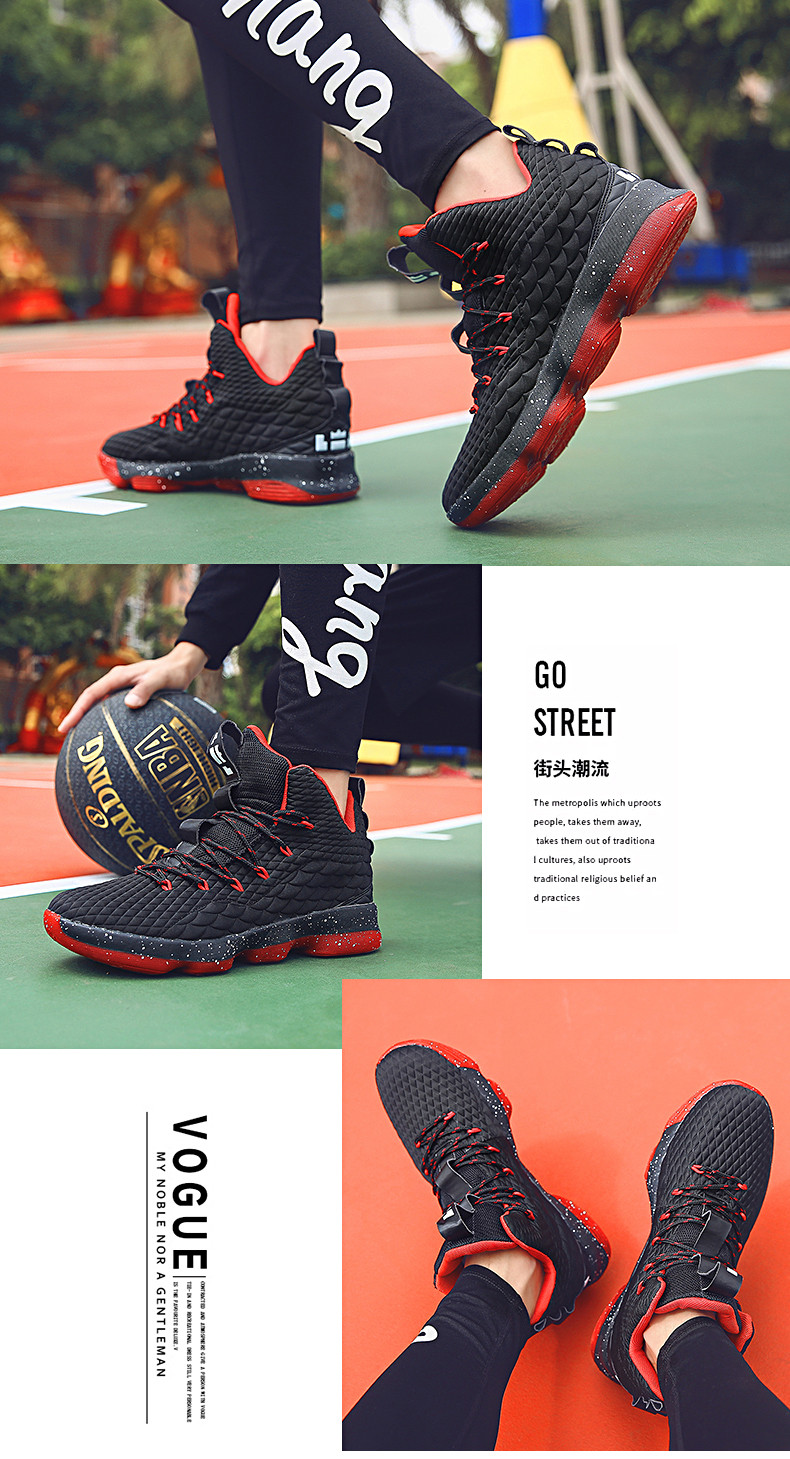High-top Lebron Basketball Shoes Men Women Cushioning Breathable Basketball Sneakers Anti-skid Athletic Outdoor Man Sport Shoes (6)