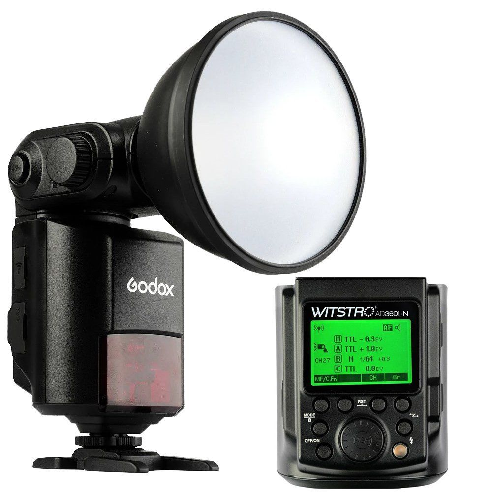 Godox Witstro AD360II-N TTL 360 W Kit Flash Speedlite Portable pour NIKONGodox Witstro AD360II-N TTL 360 W Kit Flash Speedlite Portable pour NIKON